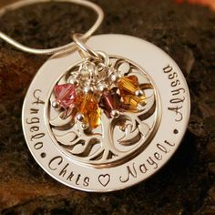 For grandmas? Hand Stamped Mommy Jewelry  Personalized Family by IntentionallyMe, $90.00