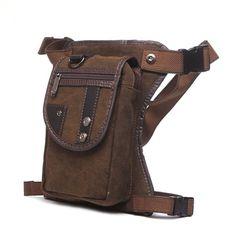 New Men Nylon Canvas Multi-purpose Waist Bag Leg Drop Bag Fanny Pack Motorcycle #Unbranded #LegBag