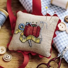 Pin Cushions - Cross Stitch