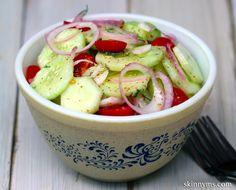 Classic Cucumber & Tomato Salad--perfect side dish!!  #cucumber #tomato #salad