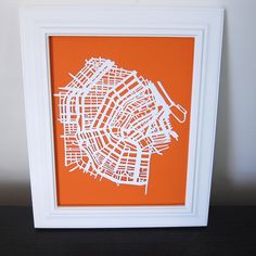 Iron Craft Challenge 1 - Paper Cut Map by katbaro, via Flickr