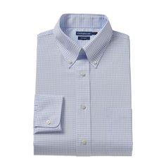 Men's Croft & Barrow® Fitted No-Iron Dress Shirt, Size: 15.5-34/35, White