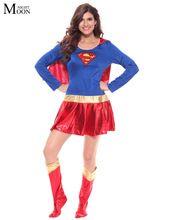 Femme Super-Héros Adulte Costume Fancy Dress Outfit Halloween Super Fille…