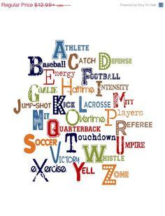 Hey, I found this really awesome Etsy listing at https://www.etsy.com/listing/203640326/on-sale-boy-alphabet-sports-theme-boy