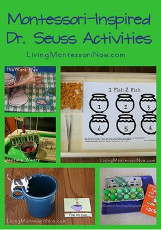 Montessori-Inspired Dr. Seuss Activities - To do Week of March 2nd (Dr. Seuss's Birthday)