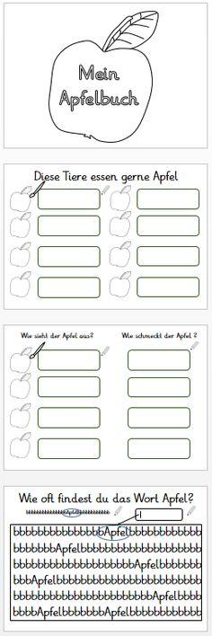 grundschulimpulse: Kleines Apfelbuch und Tafelkarten