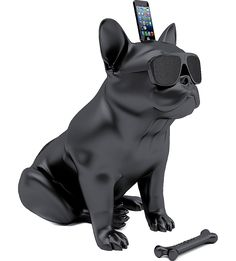Company Jarre Technologies, which was founded by the legendary musician Jean-Michel Jarre, released stylish bluetooth-speakers for the iPhone called AeroBull. Made in the form of buldog it has two speakers, one subwoofer Jean Michel Jarre, Radios, Iphone Bluetooth Speaker, Ipod Dock, Smartphone, Music System, Matte Black, Black White, Best Dogs