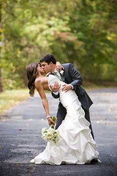 Love this classic dip shot by Maryland Wedding Portraits