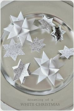 stars on silver plate