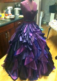 disney couture | Ursula dress in the making!!!! I want it ...