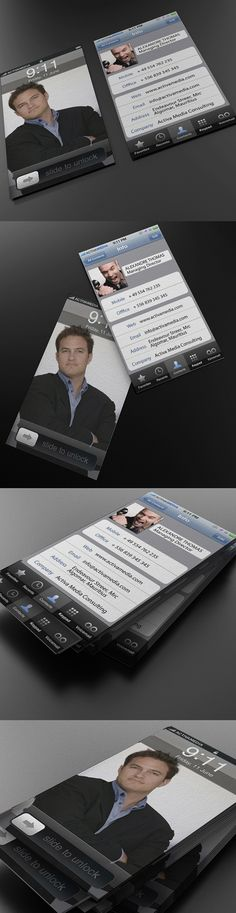 business card idea that looks like your smart phone. I totally wanna do this!!