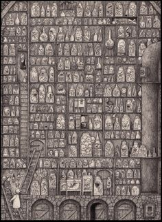 Beautiful/horrible details in this amazing laboratory, made by the great John Kenn Mortenson