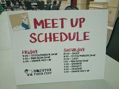 The Meet Up Schedule at Houston Fiber Fest