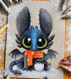 Baby Alpha Toothless by SkyKristal Baby Alpha Toothless por SkyKristal stuff Cute Disney Drawings, Cute Animal Drawings, Kawaii Drawings, Cool Drawings, Drawing Sketches, Drawing Ideas, Arte Disney, Disney Art, Disney Stuff
