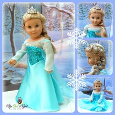 Frozen Snow Queen Dress Fits Your American by upowlnightcrafting