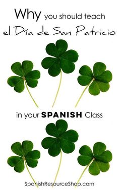 Why You Should Teach St Patrick's Day in Spanish Class! Ideas and activities for El Día de San Patricio for middle school or high school Spanish students. Fun worksheets and resources for Spanish class! Reading comprehension activity, word wall, review games, bingo, conjugation activity and color by number activities! #stpatricksdayspanish #sanpatricio