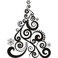 art deco christmas black and white google search