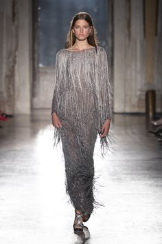 Alberta Ferretti Resort and Limited Edition 2019 Dress Outfits, Fashion Outfits, Dress Clothes, Dresses, Silver Evening Gowns, Italian Fashion Designers, Grey Outfit, Alberta Ferretti, Wool Dress
