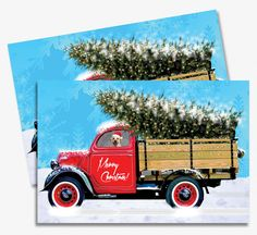 Special Delivery Christmas Card Printable – Vintage Truck / DIY Season's Greeting Cards by PrintedInspiration on Etsy
