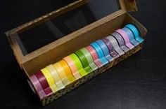 NOW THIS is the greatest idea ever!!! Washi tape organization