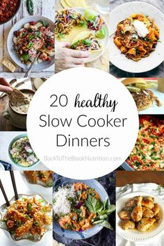 Healthy Man 20 Healthy Slow Cooker Dinners - amazing round up of simple beef, chicken, and pork recipes made with minimally processed ingredients! Healthy Slow Cooker, Healthy Crockpot Recipes, Pork Recipes, Slow Cooker Recipes, Real Food Recipes, 21dayfix Recipes, Crockpot Ideas, Crockpot Dishes, Paleo Recipes