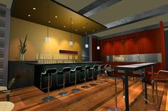 Concept design for a neighborhood restaurant & bar featuring a menu of fresh, organic ingredients in a lively urban space. Natural and recycled materials are combined with sophisticated furniture, and dramatic lighting to create a smart, casual environment.