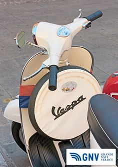 "Vintage italian scooter exposed by the Vespa club Imola at old cars and motorcycle meeting ""Luigi Musso Historic Gran Prix"" on October 8, 2011 in Imola (PH ermess / Shutterstock.com)  Reach Italy with http://www.gnv.it/"