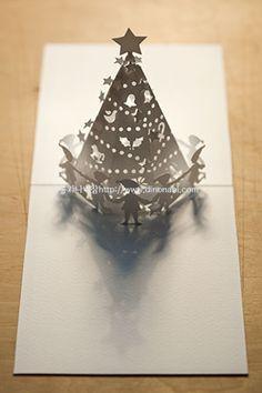 요정들의 크리스마스 팝업카드 pop up card