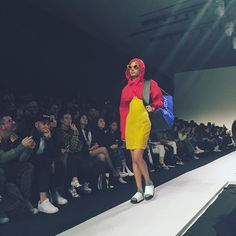 """Getting strong """"She doesn't even go here"""" vibes from this look at @pushbutton_official's Seoul Fashion Week show  #meangirls #damian Photo by @marissaexplains  via NYLON MAGAZINE OFFICIAL INSTAGRAM - Celebrity  Fashion  Haute Couture  Advertising  Culture  Beauty  Editorial Photography  Magazine Covers  Supermodels  Runway Models"""