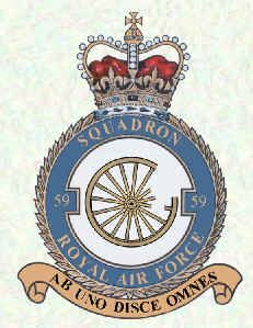 #59 Squadron was formed at Narborough Airfield in Norfolk on 1 August 1916 as a squadron of the Royal Flying Corps. On 13 February 1917, the Squadron crossed the English Channel, deploying to Saint-Omer in northern France to operate in the army co-operation role, equipped with Royal Aircraft Factory R.E.8s. During the Second World War it was attached to RAF Fighter Command (1937–1940), Bomber Command (taking part in the Millennium II raid on Bremen) and Coastal Command (1940–1945). After the…