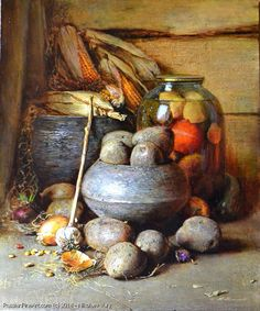 Jar With Pickles - oil, canvas - Nikolaev Yury