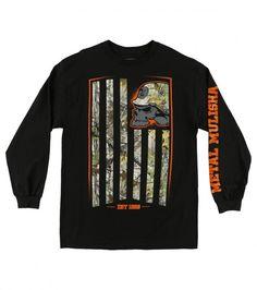 Realtree X Fracturels Camo long sleeve Tee by Metal Mushila Metal Mulisha, Boys Nike, Graphic Sweatshirt, T Shirt, My Favorite Color, Camo, Long Sleeve Tees, Sweatshirts, Mens Tops
