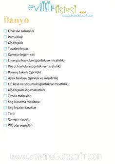 Banyo ceyiz listesi