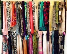 Scarves available at Etc. Consignment shoppe