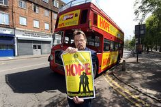 Eddie Izzard, campaigning with anti-fascist group HOPE not Hate