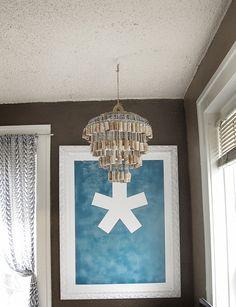 diy wine cork chandelier