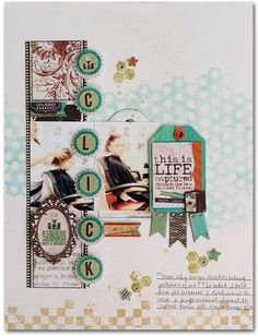 #papercraft #scrapbook #layout    Mama-Razzi 2 Darkroom Pattern Paper by Bo Bunny Press