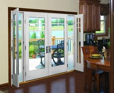 Sliding French patio doors with screens are both beautiful and functional. Sliding doors have been a new trend of choice for patio doors for some time ago. House Design, House, Home, Home Remodeling, French Doors Exterior, New Homes, Doors Interior, Exterior Doors, French Doors With Screens