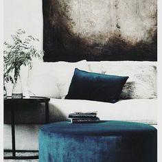 Morning! Cant believe its November already . Im about halfway through my house renovation and about to jump/roll slowly out of bed to go to meet the plasterer which has nothing to do with this pic but isnt it just totally gorg! I love the textures here. The velvet completely transforms it  . . . . . #finditstyleit #velvet #velvetcushions #loungestyle #bluevelvet #darkinteriors  #howtheyhome #cornerofmyhome #interioraddict #myeclecticmix #sassyhomestyle #interiorblogger #interiorwarrior…