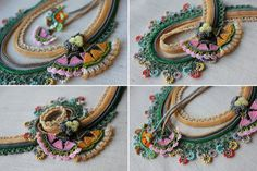 Beaded crochet necklace: Humboldtia Brunonis necklace with