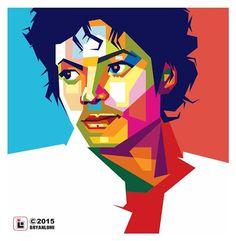 """""""Michael Jackson (MJ) in WPAP #WPAP #wpapdesign #wpapart #vector #vectorwajah…"""