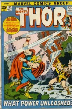 Cover for Thor (Marvel November [Regular Edition] Old Comic Books, Vintage Comic Books, Marvel Comic Books, Vintage Comics, Comic Book Covers, Marvel Characters, Vintage Stuff, Mystery, The Mighty Thor
