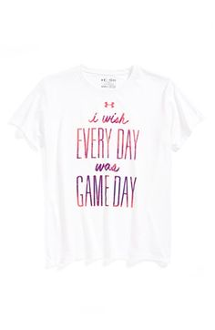 Under Armour 'Game Day' Tee (Big Girls) | Nordstrom