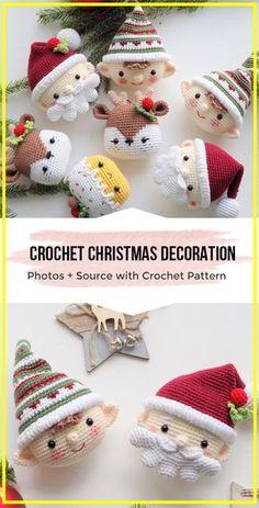 Crochet Christmas Decorations, Crochet Christmas Ornaments, Christmas Crochet Patterns, Crochet Snowflakes, Christmas Knitting, Crochet Patterns Amigurumi, Crochet Dolls, Christmas Crafts, Crochet Decoration