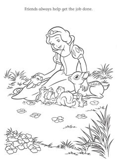 Free Coloring Pages Snow White