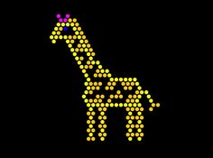 Amazon.com: Classic 9x12 Lite Brite Refill: The Zoo (RECTANGLE) - NOT for New Magic Screen: Toys & Games