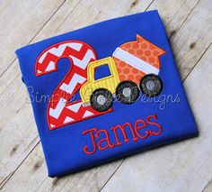 Your little guy will love this super cute and awesomely cool construction theme shirt to wear on his special day.  I also have cranes,