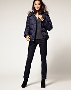 Wrangler  Faux Fur Hooded Padded Jacket