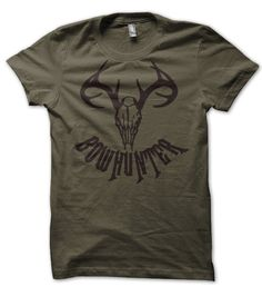 Bow Hunter Deer Skull Hunting T Shirt. $12.95, via Etsy.