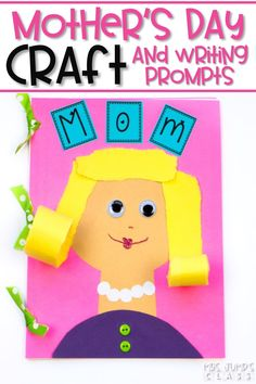 Need a Mother's Day craft you can create with your students? This kindergarten project will make a perfect keepsake. It includes writing prompts about mom. Put them together and make it into sweet book that can be used as a Mother's Day gift! I have even included a free Mother's Day printable, so you can sample this project.
